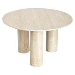 Mario Bellini Italian Travertine Il Colonnato Dining Table for Cassina