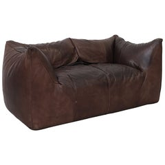 Mario Bellini 'Le Bambole' Leather Loveseat