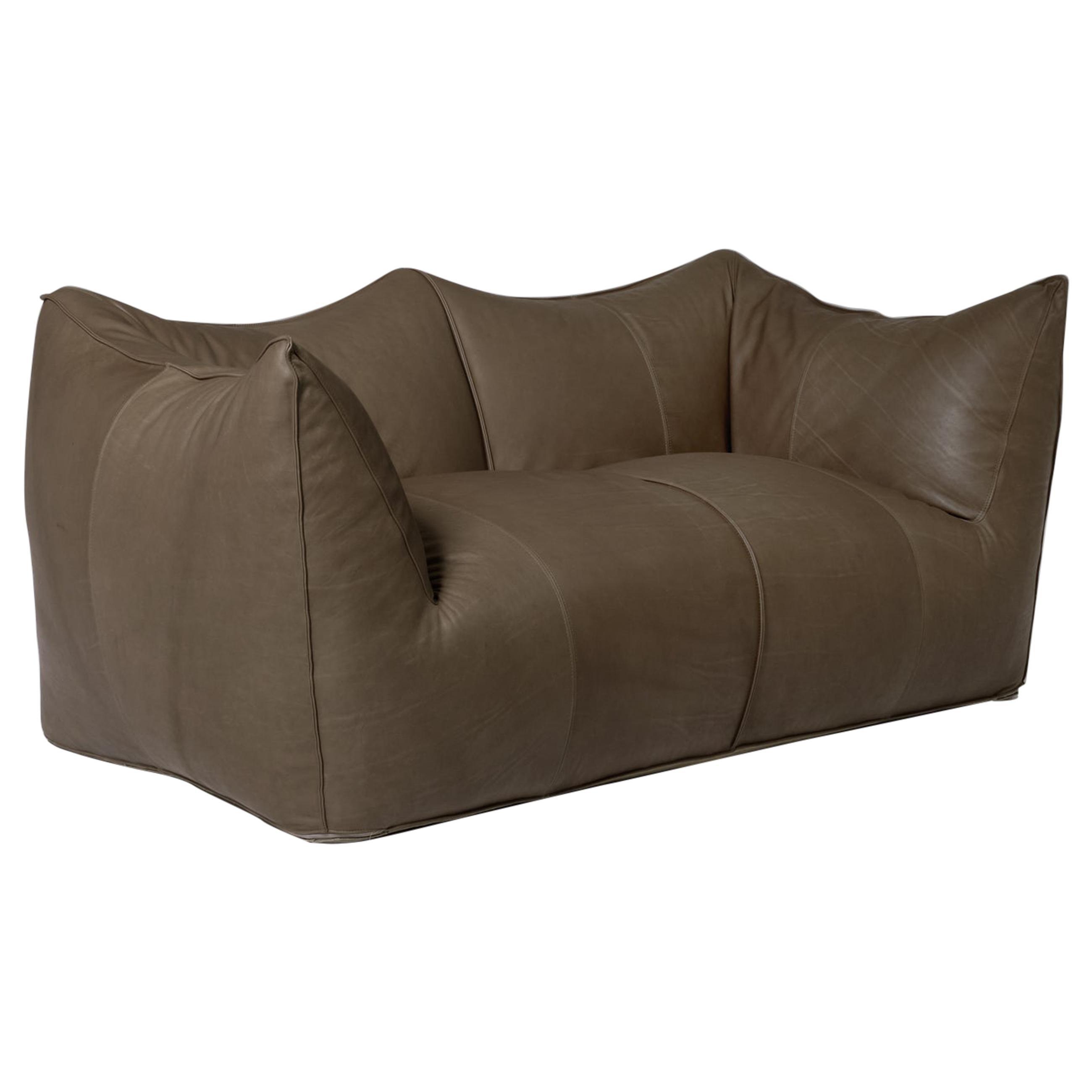 Mario Bellini 'Le Bambole' Leather Two-Seat Sofa for B&B Italia, 1972