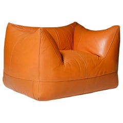 Mario Bellini 'Le Bambole' Lounge Chair in Original Cognac Leather