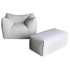 "Mario Bellini ""Le Bambole"" Lounge Chair and Ottoman for B&B Italia"