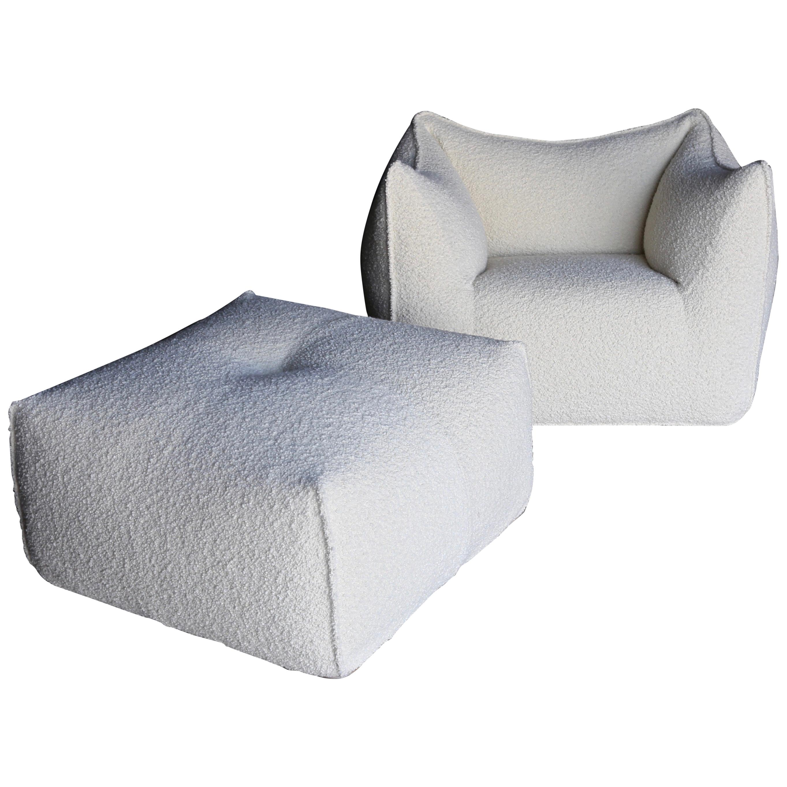 "Mario Bellini ""Le Bambole"" Lounge Chair & Ottoman for B&B Italia"