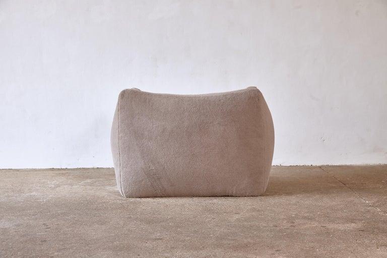 Mario Bellini Le Bambole Lounge Chair, Upholstered in Alpaca, B&B Italia, 1970s For Sale 4