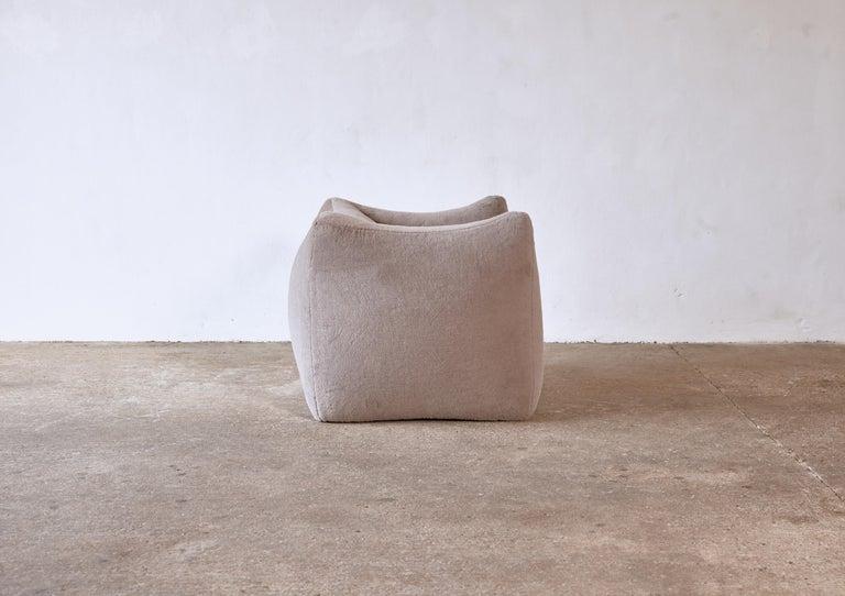 Mario Bellini Le Bambole Lounge Chair, Upholstered in Alpaca, B&B Italia, 1970s For Sale 6