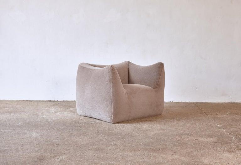 Mario Bellini Le Bambole Lounge Chair, Upholstered in Alpaca, B&B Italia, 1970s For Sale 7