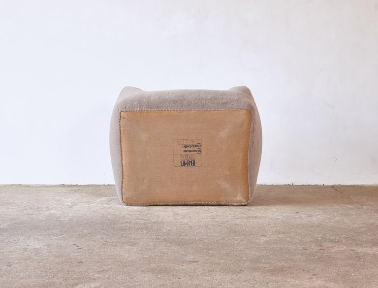 Mario Bellini Le Bambole Lounge Chair, Upholstered in Alpaca, B&B Italia, 1970s For Sale 8