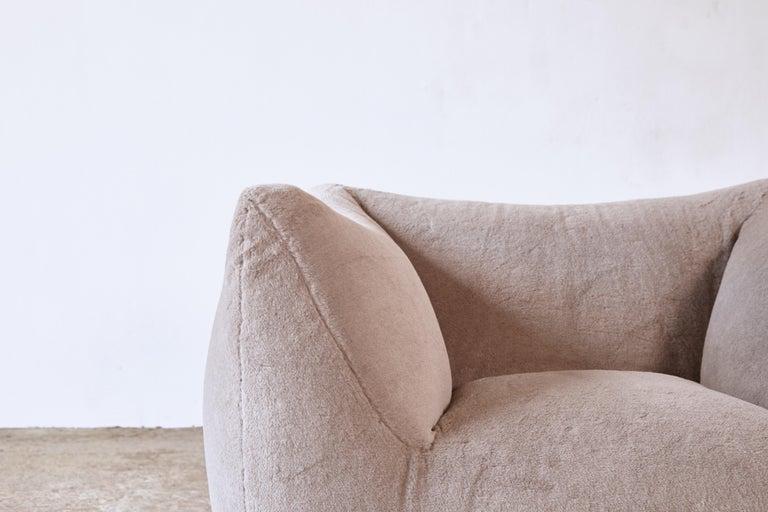 Mario Bellini Le Bambole Lounge Chair, Upholstered in Alpaca, B&B Italia, 1970s For Sale 9