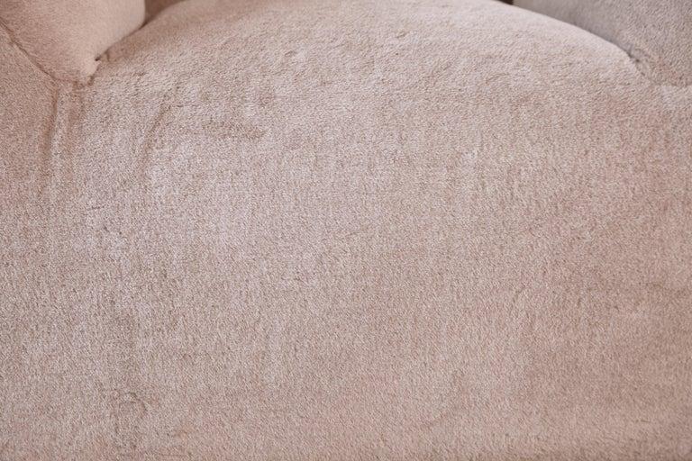 Mario Bellini Le Bambole Lounge Chair, Upholstered in Alpaca, B&B Italia, 1970s For Sale 10