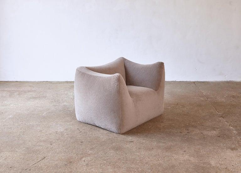 Mario Bellini Le Bambole Lounge Chair, Upholstered in Alpaca, B&B Italia, 1970s For Sale 12