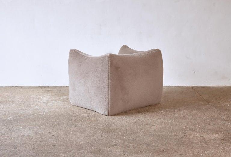 Mario Bellini Le Bambole Lounge Chair, Upholstered in Alpaca, B&B Italia, 1970s For Sale 2