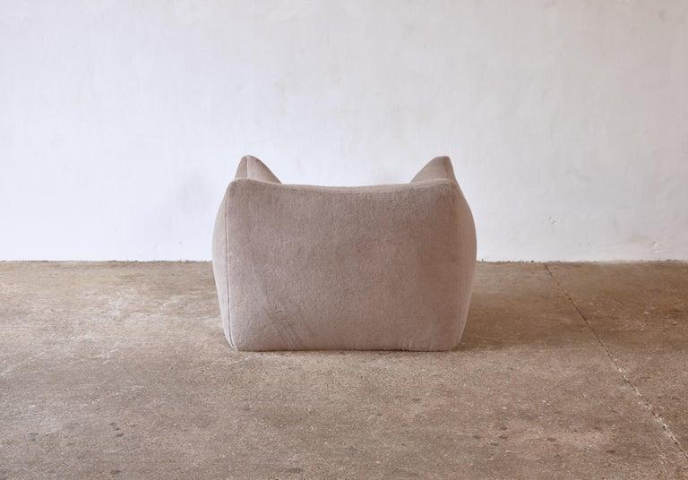 Mario Bellini Le Bambole Lounge Chair, Upholstered in Alpaca, B&B Italia, 1970s For Sale 3