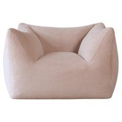 Mario Bellini Le Bambole Lounge Chair, Upholstered in Alpaca, B&B Italia, 1970s