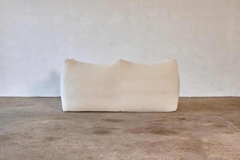 20th Century Mario Bellini Le Bambole Sofa, Upholstered in Alpaca, B&B Italia, 1970s For Sale
