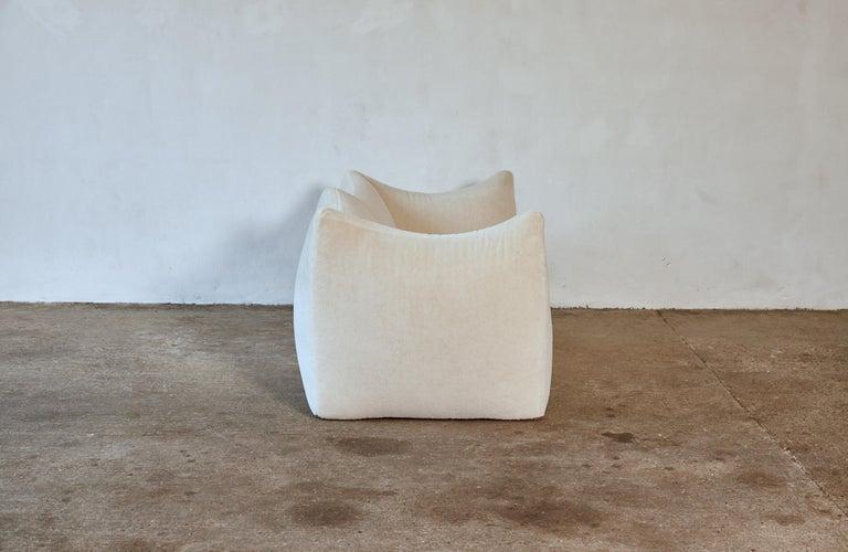 Mario Bellini Le Bambole Sofa, Upholstered in Alpaca, B&B Italia, 1970s For Sale 3
