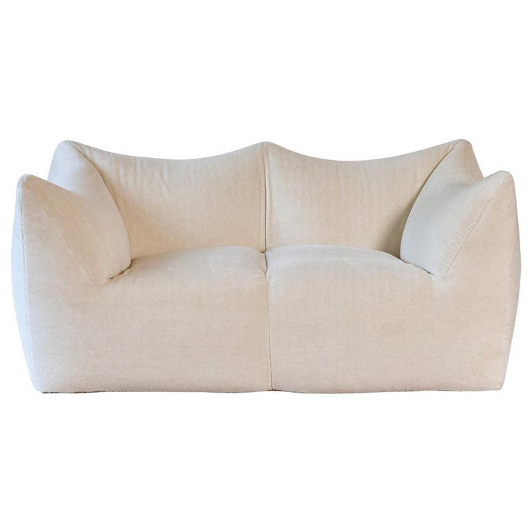 Mario Bellini Le Bambole Sofa, Upholstered in Alpaca, B&B Italia, 1970s For Sale