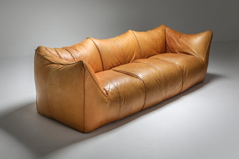 'Le Bambole' by Mario Bellini, Italy, 1970s, cognac tan leather
