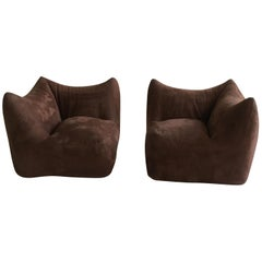 Mario Bellini 'Le Bambole' Two Modular Elements, Pair of Lounge Chairs, Italy