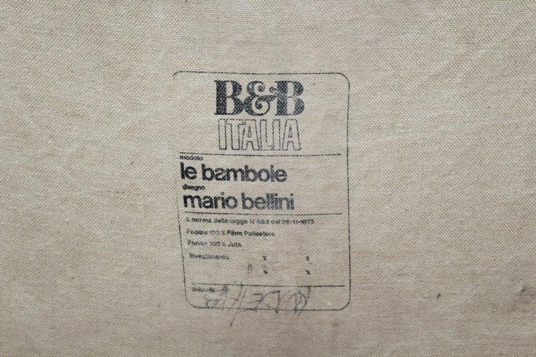 "Mario Bellini""Le Bambole"" Vintage Two-Seat Sofa Missoni Fabric B&B Italia, 1970s For Sale 4"