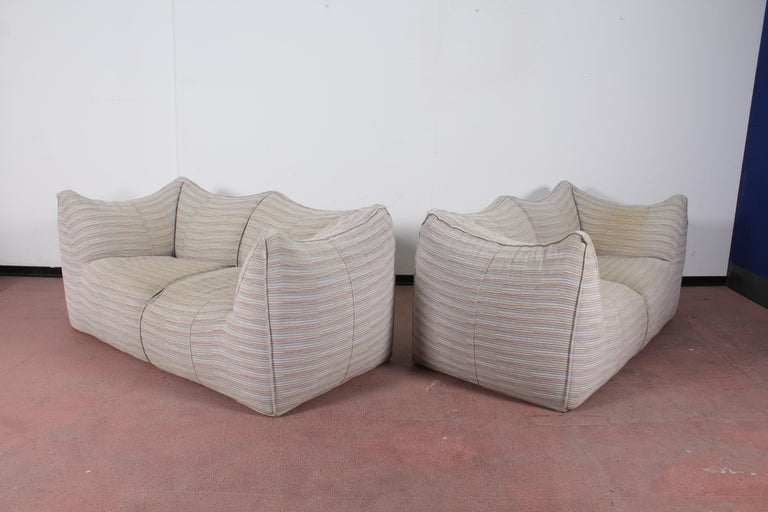 "Mario Bellini""Le Bambole"" Vintage Two-Seat Sofa Missoni Fabric B&B Italia, 1970s For Sale 10"