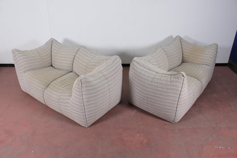 "Mario Bellini""Le Bambole"" Vintage Two-Seat Sofa Missoni Fabric B&B Italia, 1970s For Sale 11"