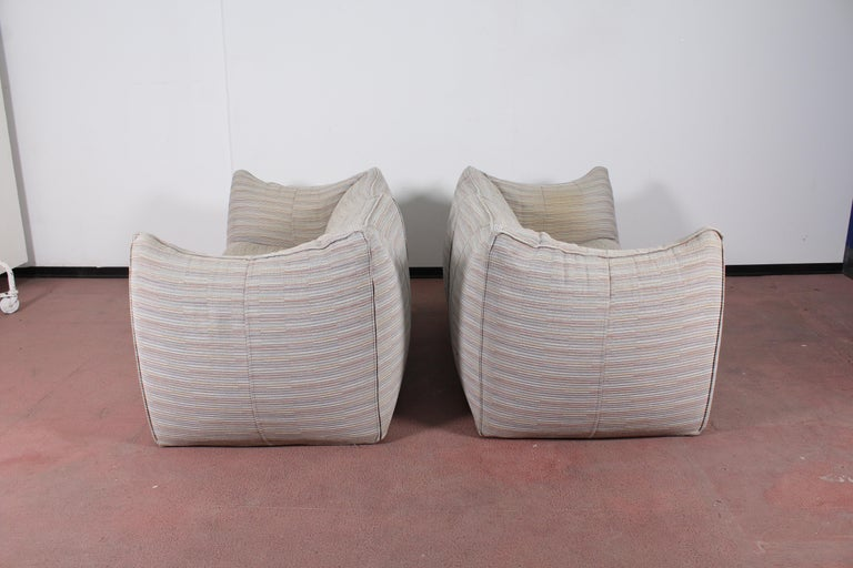 "Mario Bellini""Le Bambole"" Vintage Two-Seat Sofa Missoni Fabric B&B Italia, 1970s For Sale 12"