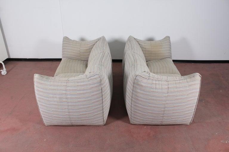 "Mario Bellini""Le Bambole"" Vintage Two-Seat Sofa Missoni Fabric B&B Italia, 1970s For Sale 13"