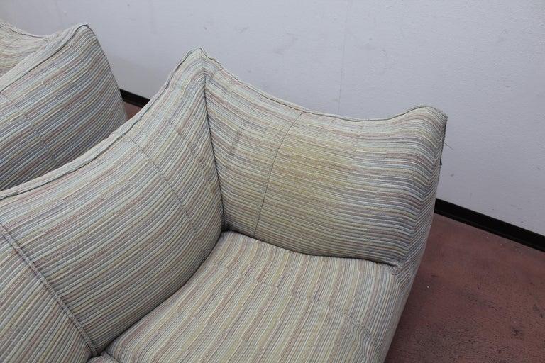"Mario Bellini""Le Bambole"" Vintage Two-Seat Sofa Missoni Fabric B&B Italia, 1970s For Sale 14"