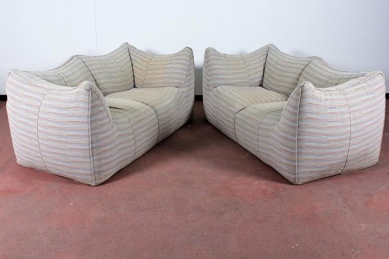 "Mid-Century Modern Mario Bellini""Le Bambole"" Vintage Two-Seat Sofa Missoni Fabric B&B Italia, 1970s For Sale"