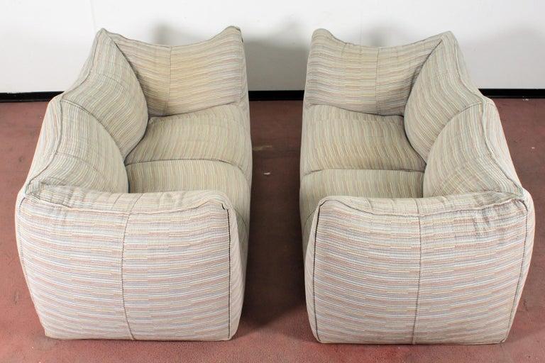 """Mario Bellini""""Le Bambole"""" Vintage Two-Seat Sofa Missoni Fabric B&B Italia, 1970s In Good Condition For Sale In Palermo, IT"""