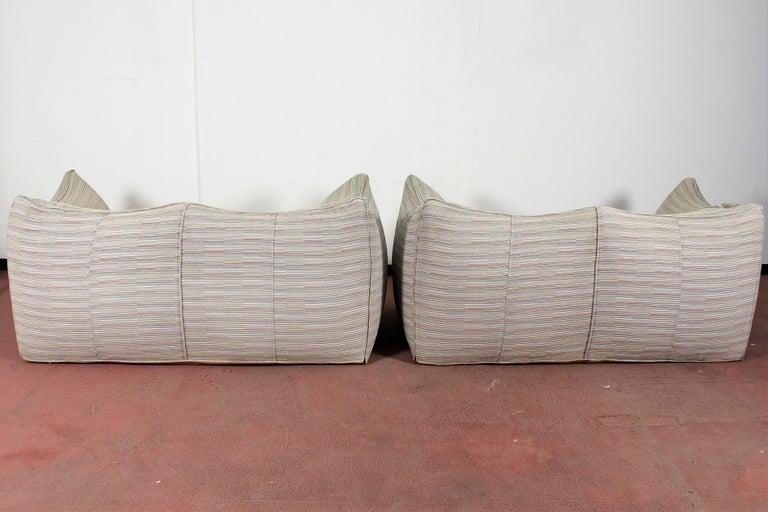 "Mario Bellini""Le Bambole"" Vintage Two-Seat Sofa Missoni Fabric B&B Italia, 1970s For Sale 1"