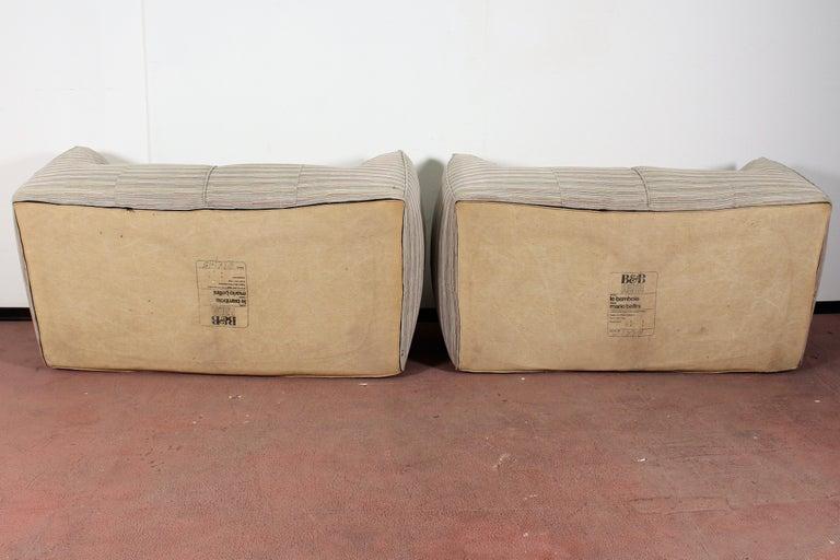 "Mario Bellini""Le Bambole"" Vintage Two-Seat Sofa Missoni Fabric B&B Italia, 1970s For Sale 3"
