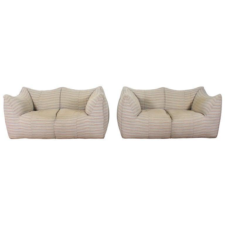 "Mario Bellini""Le Bambole"" Vintage Two-Seat Sofa Missoni Fabric B&B Italia, 1970s For Sale"