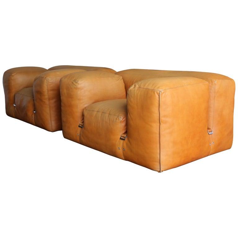 """Mario Bellini """"LE MURA"""" Lounge Chairs for Cassina, circa 1972 For Sale"""