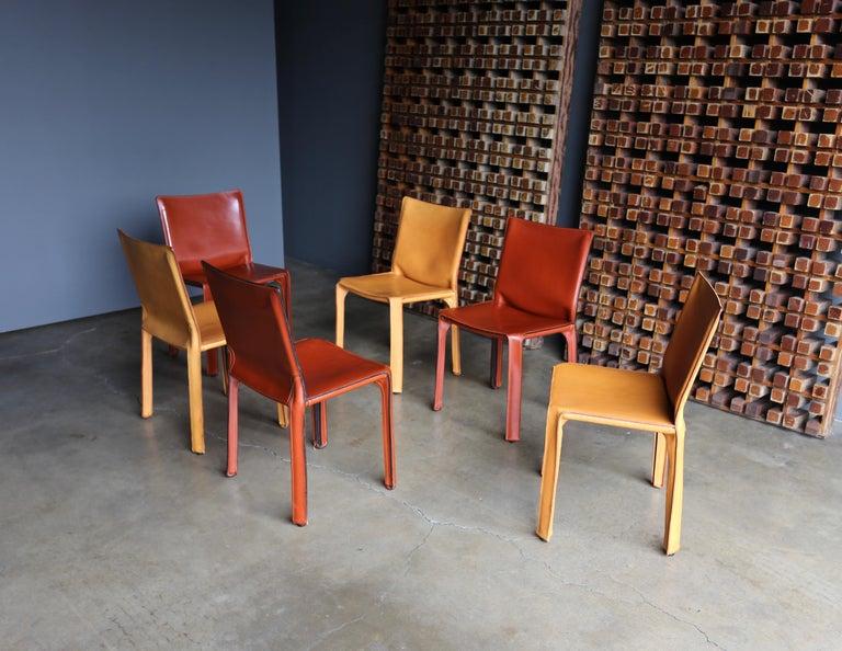 Mario Bellini set of six leather