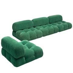 Mario Bellini Modular 'Camaleonda' Sofa in Green Fabric