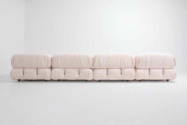 Fine Mario Bellini Nude Rose Velvet Camaleonda Sectional Sofa Uwap Interior Chair Design Uwaporg