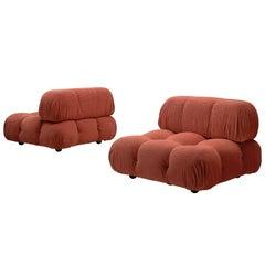 Mario Bellini Orange Camaleonda Elements in Original Upholstery