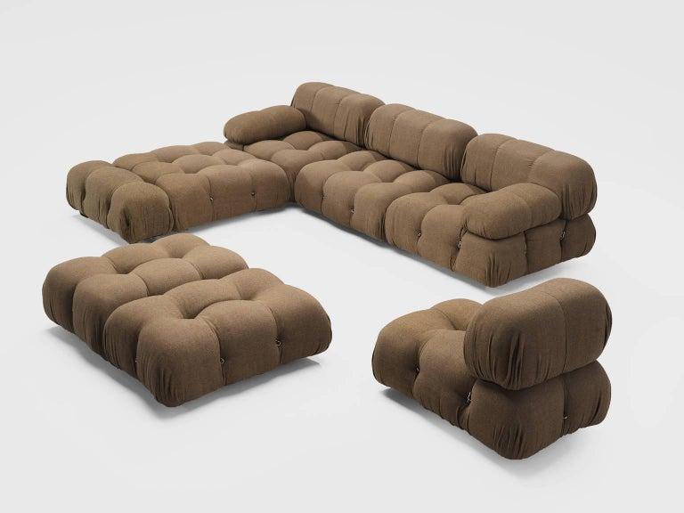 Post-Modern Mario Bellini Original Fabric 'Camaleonda' Modular Sofa in Original Fabric