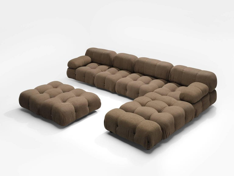Mario Bellini Original Fabric 'Camaleonda' Modular Sofa in Original Fabric In Good Condition In Waalwijk, NL