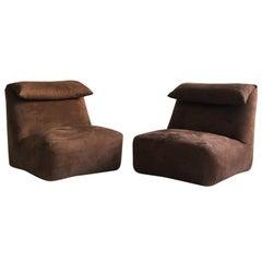 Mario Bellini Pair of 'Le Bambole' Lounge Chairs, Italy, 1976