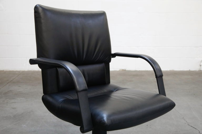 Mario Bellini Post-Modern Executive Desk Chair for Vitra, Signed and Dated 1992 For Sale 7