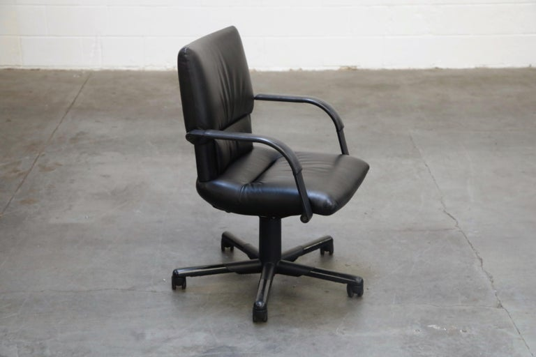 Late 20th Century Mario Bellini Post-Modern Executive Desk Chair for Vitra, Signed and Dated 1992 For Sale