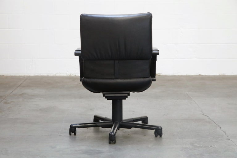 Mario Bellini Post-Modern Executive Desk Chair for Vitra, Signed and Dated 1992 For Sale 2