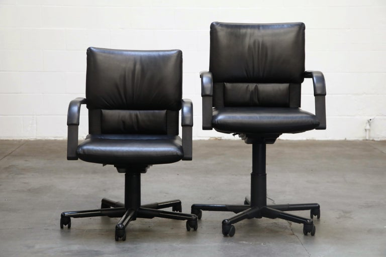 Mario Bellini Post-Modern Executive Desk Chair for Vitra, Signed and Dated 1992 For Sale 3