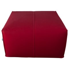 """Mario Bellini Pouf Tribambola Red Canvas Lining """"Le Bambole"""" by B&B"""