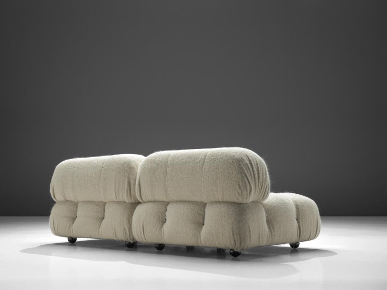Mid-Century Modern Mario Bellini Reupholstered Camaleonda Elements in Pierre Frey Wool For Sale