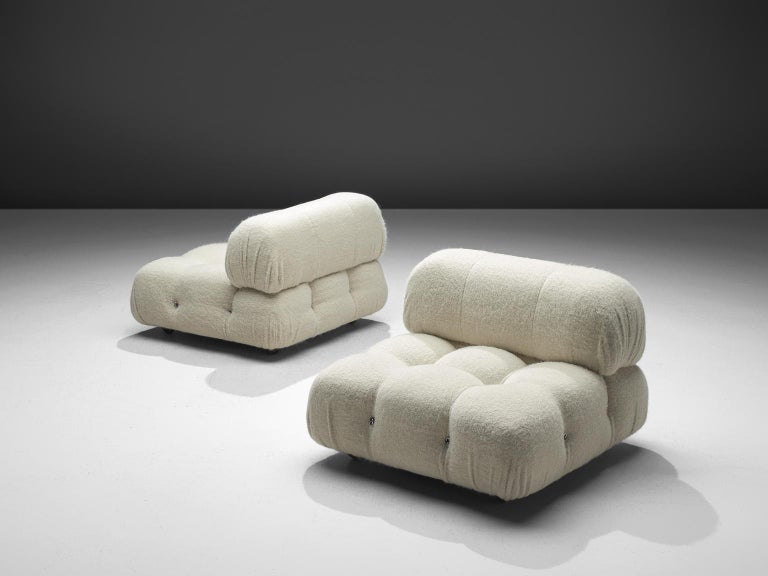Italian Mario Bellini Reupholstered Camaleonda Elements in Pierre Frey Wool For Sale