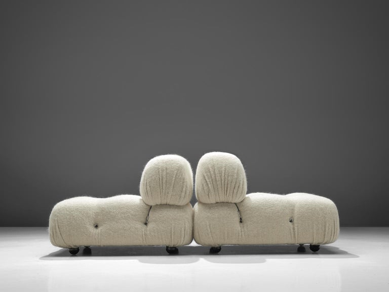 Mario Bellini Reupholstered Camaleonda Elements in Pierre Frey Wool In Excellent Condition For Sale In Waalwijk, NL
