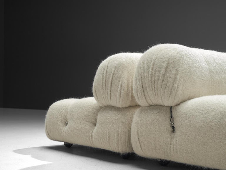 Late 20th Century Mario Bellini Reupholstered Camaleonda Elements in Pierre Frey Wool For Sale