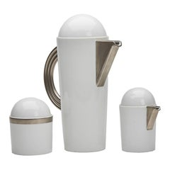 Mario Bellini Rosenthal Studio Linie White Coffee Set, circa 1985